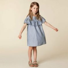 CHLOE Girls Broderie Anglaise Dress for Spring Summer 2018