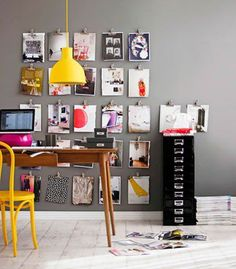 Home Office in a Closet size space. black office Home Office Design, Pictures, Remodel, Decor and Ideas - page 7 . Home Office Ideas Workspace Inspiration, Interior Inspiration, Inspiration Wall, Creative Inspiration, Colour Inspiration, Office Workspace, Office Decor, Office Ideas, Office Lamp