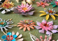Enamel Flowers - Brooches to be made. By Simply Claudia