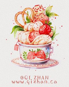 Discover recipes, home ideas, style inspiration and other ideas to try. Dessert Illustration, Illustration Art Drawing, Illustration Simple, Illustration Vector, Cute Food Art, Cute Art, Food Art Painting, Cute Food Drawings, Chibi Food