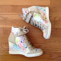 """Topshop sneaker wedges (shop my Poshmark closet. Find me at """"thekeytochic"""")"""