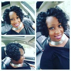 American and African Hair Braiding : Crochet braid bob with Durban Twist weeks old. Crotchet Braids, Crochet Braid Styles, Crochet Braids Hairstyles, African Braids Hairstyles, Twist Hairstyles, Pretty Hairstyles, Crochet Hair, Crochet Bob, Fishtail Braids