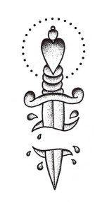 dagger sketch tattoo