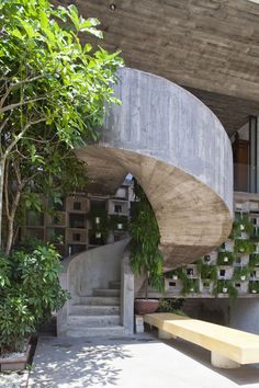 Concrete Stairs Binh Tanh House by Vo Trong Nghia Architects and Sanuki + Nishizawa architects | Ho Chi Minh City, Veitnam