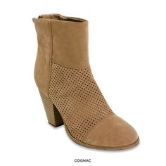 Round Toe Perforated High Heel Ankle Boots - Assorted Colors at 65% Savings off Retail!