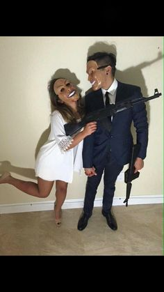 halloween costumes - 24 Best EVER Halloween costumes for couples homemade halloween costume/hot halloween costume/unique costume ideas/halloween couple costumes/halloween 2017 costume ideas/couples halloween… Couples Halloween, Homemade Halloween Costumes, Costume Halloween, Halloween Outfits, Diy Costumes, Halloween Diy, Happy Halloween, Halloween 2017, Couple Halloween Costumes For Adults