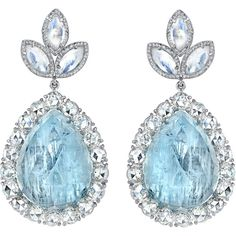 Perfection. Aquamarine & Diamond Earrings  These stunners!