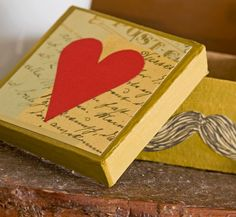 Gifts for Guys: Valentine Gift Box for Him #modpodge #crafts