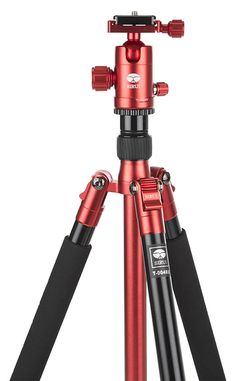 Sirui T-004X Tripod red with C-10X Hea