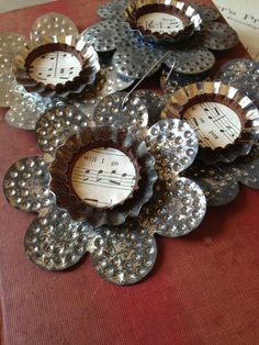 Upcycled Punched Tin Ornaments