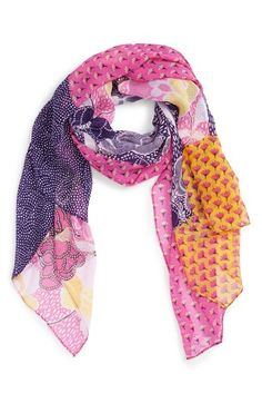 Diane von Furstenberg 'New Boomerang' Silk Scarf available at #Nordstrom