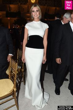 Ivanka Trump Wows In Black & White Gown At Father Donald's Cabinet Dinner —Pics
