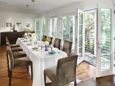 Roberson's #dining #room #addition was designed by architect Charles Moore. #architecture #interior #design