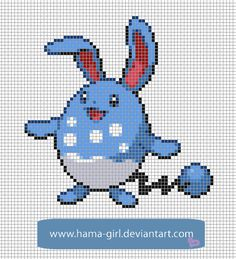 Azumarill by Hama-Girl.deviantart.com on @deviantART