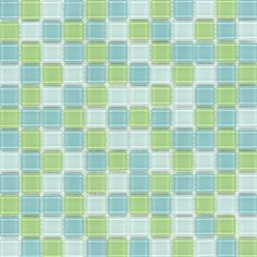 Elida Ceramica�Lime Multicolor Glass Mosaic Square Wall Tile (Common: 12-in x 12-in; Actual: 11.75-in x 11.75-in)