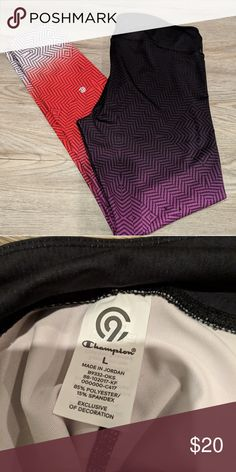 a33aca8d10f91 Champion Leggings - Large Brand New w o Tags Champion Brand Ombre white -  red - purple - black Please feel free to ask any questions.