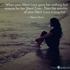 Silent Love, Losing You, Crying, Lost