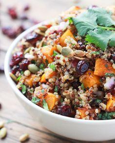 3. Butternut Squash and Cranberry Quinoa Salad #winter #salad #bowls http://greatist.com/eat/winter-salad-recipes