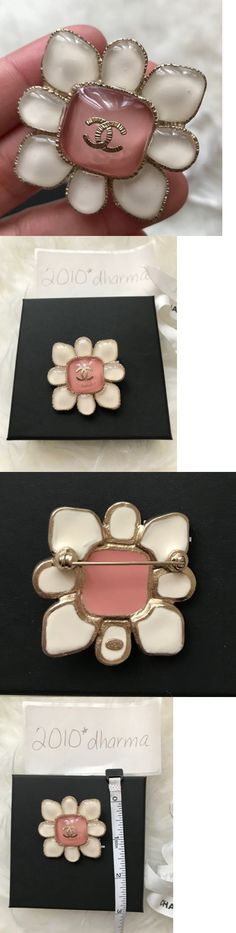 Pins and Brooches 50677: Authentic Chanel Nib Resin Pink White Gold Brooch -> BUY IT NOW ONLY: $549 on eBay!