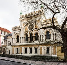 SPANISH SYNAGOGUE ~ Prague, Czech Republic.  Built in 1868 in a Moorish Revival design, and and early Reform temple. Despite the name, it was never a Spanish or Sephardic church. It may have been named for its architecture, reminiscent of the Golden age of Jewish culture in Spain.