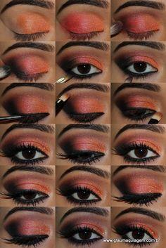 #maquiagem cores quentes
