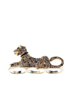 gold panther knuckle ring