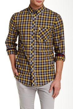 Pop Tartan Long Sleeve Regular Fit Shirt by Ben Sherman on @HauteLook
