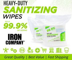 """Specifically designed for gyms and heavy-duty applications, our wipes are larger, thicker and hold a much higher moisture content than most other wipes, especially when compared to """"economical"""" wipes which usually means small, dry and tears easily. Workout Accessories, Fitness Accessories, Alcohol Free, Personal Care, Cleaning, Larger, Content, Self Care, Personal Hygiene"""