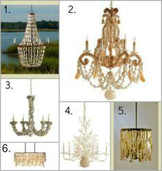Coastal Home: Style Starboard: Round Up Coastal seashell lighting...