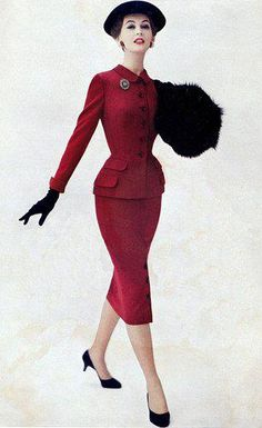 Red suit 1950s... Too bad they don't make them like this anymore