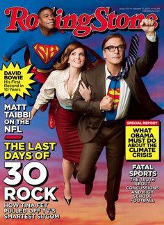 30 Rock Rolling Stone Cover - January 2013: Tina Fey, Alec Baldwin & Tracy Morgan