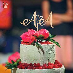 Cake topper for wedding, initials cake topper, wedding cake topper, monogram cake topper, letters cake topper, personalized cake topper - Venue and reception decor (*Amazon Partner-Link)