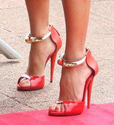 "Giuseppe Zanotti Red ""Bon-Ton"" Sandals"