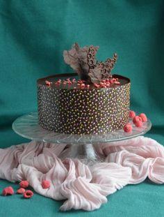 Transzferfólia használata - mintás csokiköpeny, csokigallér készítése