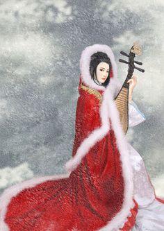 One of China's Four Ancient Beauties - Wang Zhao Jun. Artwork by a-thammasak on DeviantArt