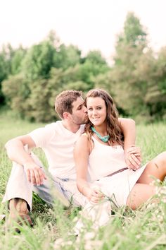 Engagement Photoshoot -> White summer dress with white tee/jeans.
