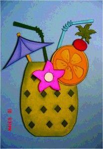 tropical drink svg