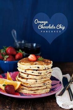 Orange Chocolate Chip pancakes by cindyrahe, via Flickr