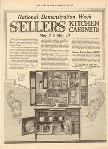 Sellers Kitchen Cabinets Vintage 1922 sellers kitchen cabinet 30th anniversary ad elwood indiana