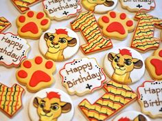 Lion Guard Birthday Cookies by Kelley Hart Custom Cookies Lion Guard Birthday Cake, Lion King Birthday, Twin First Birthday, Baby First Birthday, 1st Birthday Parties, Lion Birthday Party, Birthday Ideas, Lion Party, Lion King Party