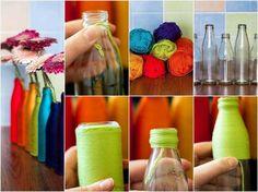 Manualidades veraniegas para niños / Floreros con frascos y globos - Buscar con Google