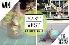 Win a 25 dollar gift certificate from East West Vintage Rentals! Prize winners drawn all day!