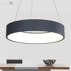 102.06$  Watch now - http://alin49.worldwells.pw/go.php?t=32791625976 - New products round circles pendant lamp aluminum LED chandelier decoration hanging lights AC 90-265V diameter 45/60 sales 102.06$