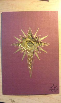 Iris folded star