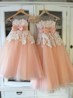 Girl's Lace Baby Princess Bridesmaid Flower Girl Dresses Wedding Party Dresses #Handmade #BridesmaidChristmasDressyEverydayHolidayPageantPartyPromWedding