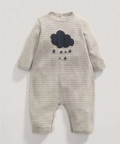Boys Welcome to the World Fawn Knitted Romper - Rompers & Bodysuits - Mamas & Papas
