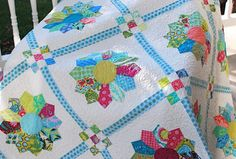 Soul Blossoms Dresden Plate Quilt by Cynthia of Hyacinth Quilt Designs. I love the setting on this one!