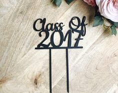 Class Of 2017 Cake Topper Graduation Cake Custom Cake Topper Cake Decoration Cake Decorating Cake Topper Cake Topping Sugar Boo Cake Toppers