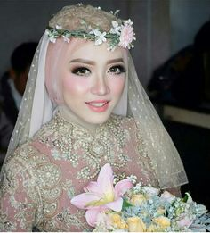 Bride muslim korean look