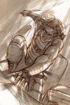 Winter+Soldier+-+The+Warrior+in+Pain+-+Sketch+by+Lehanan.deviantart.com+on+@DeviantArt